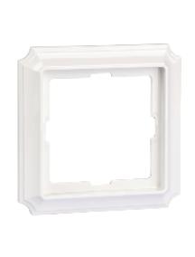 Merten Antique MTN483119 - Antique frame, 1-gang, polar white , Schneider Electric