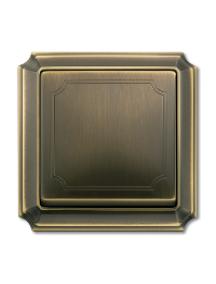 Merten Antique MTN483143 - Artec - plaque de finition simple - laiton ancien , Schneider Electric