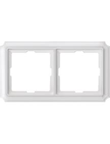 Merten Antique MTN483219 - Antique frame, 2-gang, polar white , Schneider Electric