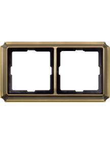 Merten Antique MTN483243 - Artec - plaque de finition double - laiton ancien , Schneider Electric