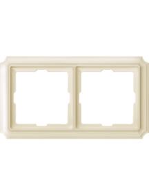 Merten Antique MTN483244 - Antique frame, 2-gang, white , Schneider Electric
