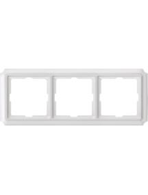 Merten Antique MTN483319 - Antique frame, 3-gang, polar white , Schneider Electric
