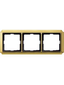 Merten Antique MTN483321 - PLAQUE TPLE ANTIC LAITON , Schneider Electric