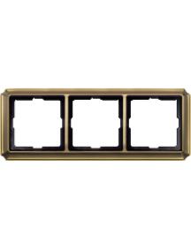 Merten Antique MTN483343 - Artec - plaque de finition triple - laiton ancien , Schneider Electric