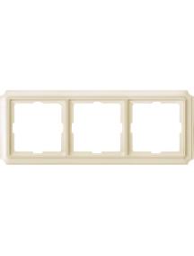 Merten Antique MTN483344 - Antique frame, 3-gang, white , Schneider Electric