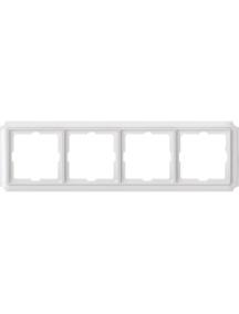 Merten Antique MTN483419 - Antique frame, 4-gang, polar white , Schneider Electric