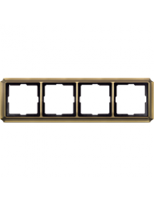 Merten Antique MTN483443 - Artec - plaque de finition quadruple - laiton ancien , Schneider Electric