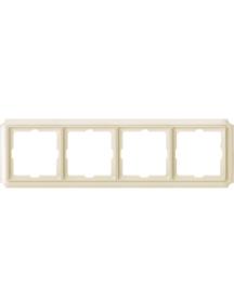 Merten Antique MTN483444 - Antique frame, 4-gang, white , Schneider Electric