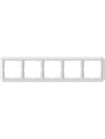 Merten Antique MTN483519 - Antique frame, 5-gang, polar white , Schneider Electric