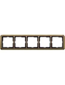 Merten Antique MTN483543 - Artec - plaque de finition quintuple - laiton ancien , Schneider Electric