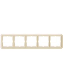 Merten Antique MTN483544 - Antique frame, 5-gang, white , Schneider Electric