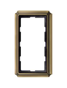 Merten Antique MTN483843 - Antique frame, 2-gang without central bridge piece, antique brass , Schneider Electric