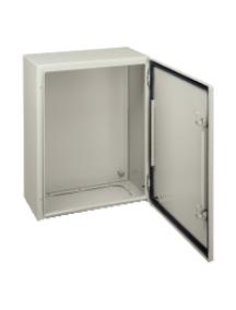 NSYCRN43150 - Spacial CRN plain door w/o mount.plate. H400xW300xD150 IP66 IK10 RAL7035.. , Schneider Electric
