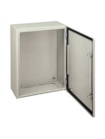 NSYCRN65250P - Spacial CRN plain door with mount.plate. H600xW500xD250 IP66 IK10 RAL7035.. , Schneider Electric