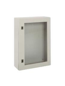 NSYCRN65250T - Spacial CRN tspt door w/o mount.plate. H600xW500xD250 IP66 IK08 RAL7035.. , Schneider Electric