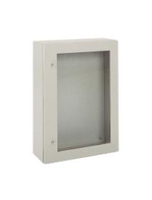 NSYCRN66250T - Spacial CRN tspt door w/o mount.plate. H600xW600xD250 IP66 IK08 RAL7035.. , Schneider Electric