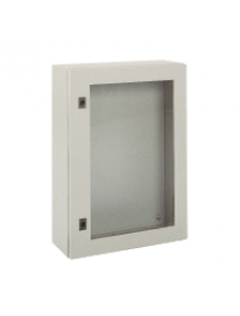 NSYCRNG126400T - Spacial CRNG tspt door w/o mount.plate. H1200xW600xD400 IP66 IK08 RAL7035 , Schneider Electric