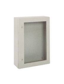 NSYCRNG128300T - Spacial CRNG tspt door w/o mount.plate. H1200xW800xD300 IP66 IK08 RAL7035 , Schneider Electric