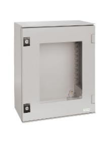 NSYPLM64TG - Thalassa PLM - Coffret polyester 647x436x250 - Porte transparente - IP66 Ral7035 , Schneider Electric