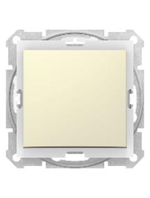 Sedna SDN0100347 - Sedna - 1pole switch - 10AX IP44 without frame beige , Schneider Electric