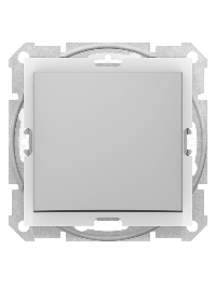 Sedna SDN0100360 - Sedna - 1pole switch - 10AX IP44 without frame aluminium , Schneider Electric