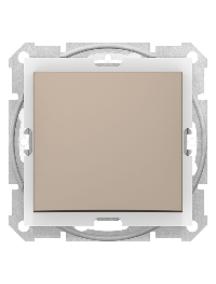 Sedna SDN0100368 - Sedna - 1pole switch - 10AX IP44 without frame titanium , Schneider Electric