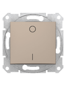Sedna SDN0200168 - Sedna - 2 poles switch - 10AX, without frame, titanium , Schneider Electric