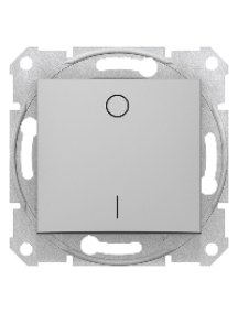 Sedna SDN0200260 - Sedna - 2pole switch - 16AX without frame aluminium , Schneider Electric