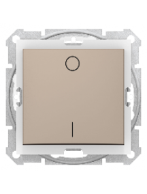 Sedna SDN0200368 - Sedna - 2pole switch - 10AX IP44 without frame titanium , Schneider Electric