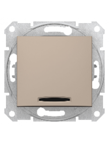 Sedna SDN0201168 - Sedna - 2pole switch - 10AX indicator light, without frame titanium , Schneider Electric
