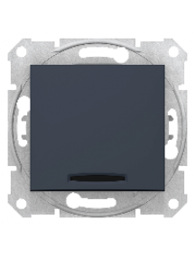Sedna SDN0201170 - Sedna - 2pole switch - 10AX indicator light, without frame graphite , Schneider Electric