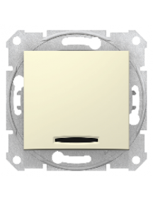 Sedna SDN0201247 - Sedna - 2pole switch - 16AX indicator light, without frame beige , Schneider Electric