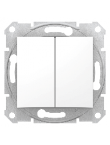 Sedna SDN0300121 - Sedna - 1pole 2-circuits switch - 10AX without frame white , Schneider Electric