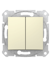 Sedna SDN0300147 - Sedna - 1pole 2-circuits switch - 10AX without frame beige , Schneider Electric