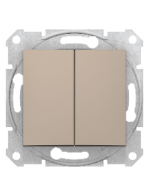 Sedna SDN0300168 - Sedna - 1pole 2-circuits switch - 10AX without frame titanium , Schneider Electric