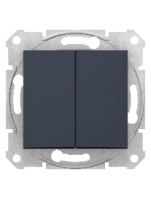 Sedna SDN0300170 - Sedna - 1pole 2-circuits switch - 10AX without frame graphite , Schneider Electric