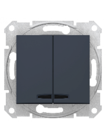 Sedna SDN0300370 - Sedna - 1pole 2-circuits switch - 10AX locator light, without frame graphite , Schneider Electric