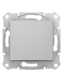 Sedna SDN0400160 - Sedna - 1pole 2way switch - 10AX without frame aluminium , Schneider Electric