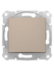 Sedna SDN0400168 - Sedna - 1pole 2way switch - 10AX without frame titanium , Schneider Electric
