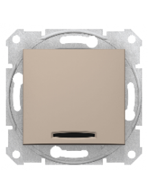 Sedna SDN0400368 - Sedna - 1pole switch - 10AX indicator light, without frame titanium , Schneider Electric