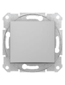 Sedna SDN0400460 - Sedna - 1pole 2way switch - 16AX without frame aluminium , Schneider Electric
