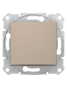 Sedna SDN0400468 - Sedna - 1pole 2way switch - 16AX without frame titanium , Schneider Electric