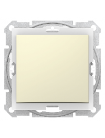 Sedna SDN0400547 - Sedna - 1pole 2way switch - 10AX IP44 without frame beige , Schneider Electric