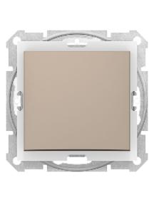 Sedna SDN0400568 - Sedna - 1pole 2way switch - 10AX IP44 without frame titanium , Schneider Electric
