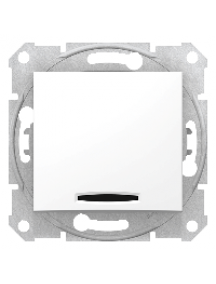 Sedna SDN0401121 - Sedna - 1pole 2way switch - 10AX indicator light, without frame white , Schneider Electric