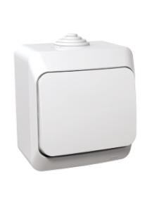 Cedar Plus WDE000510 - Cedar Plus - 1pole switch - 16AX, white , Schneider Electric