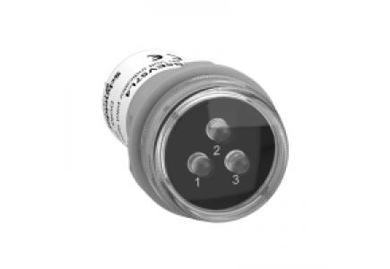 Harmony XB5 XB5EV57L4 - Harmony XB5 - Voyant de présence 3 phases - LED - blanches - 400VAC , Schneider Electric