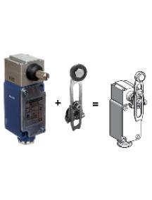 OsiSense XC XC2JC10131H2 - limit switch XC2-J - roller lever - 1 C/O , Schneider Electric