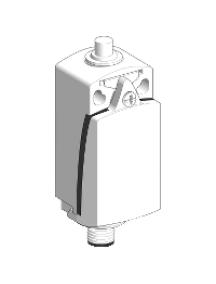 OsiSense XC XCKD2110M12 - OsiSense XCKD - inter. de pos. - poussoir métal -1O+1F- brusque - M12 , Schneider Electric