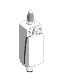 OsiSense XC XCKD2111M12 - OsiSense XCKD - inter. de pos. - poussoir métal souf. nit. -1O+1F- brusque - M12 , Schneider Electric